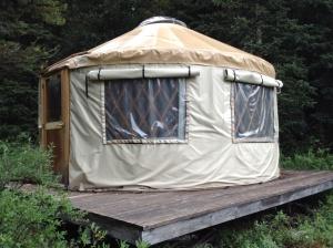 The dry yurt!