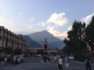 View from Main Street Banff